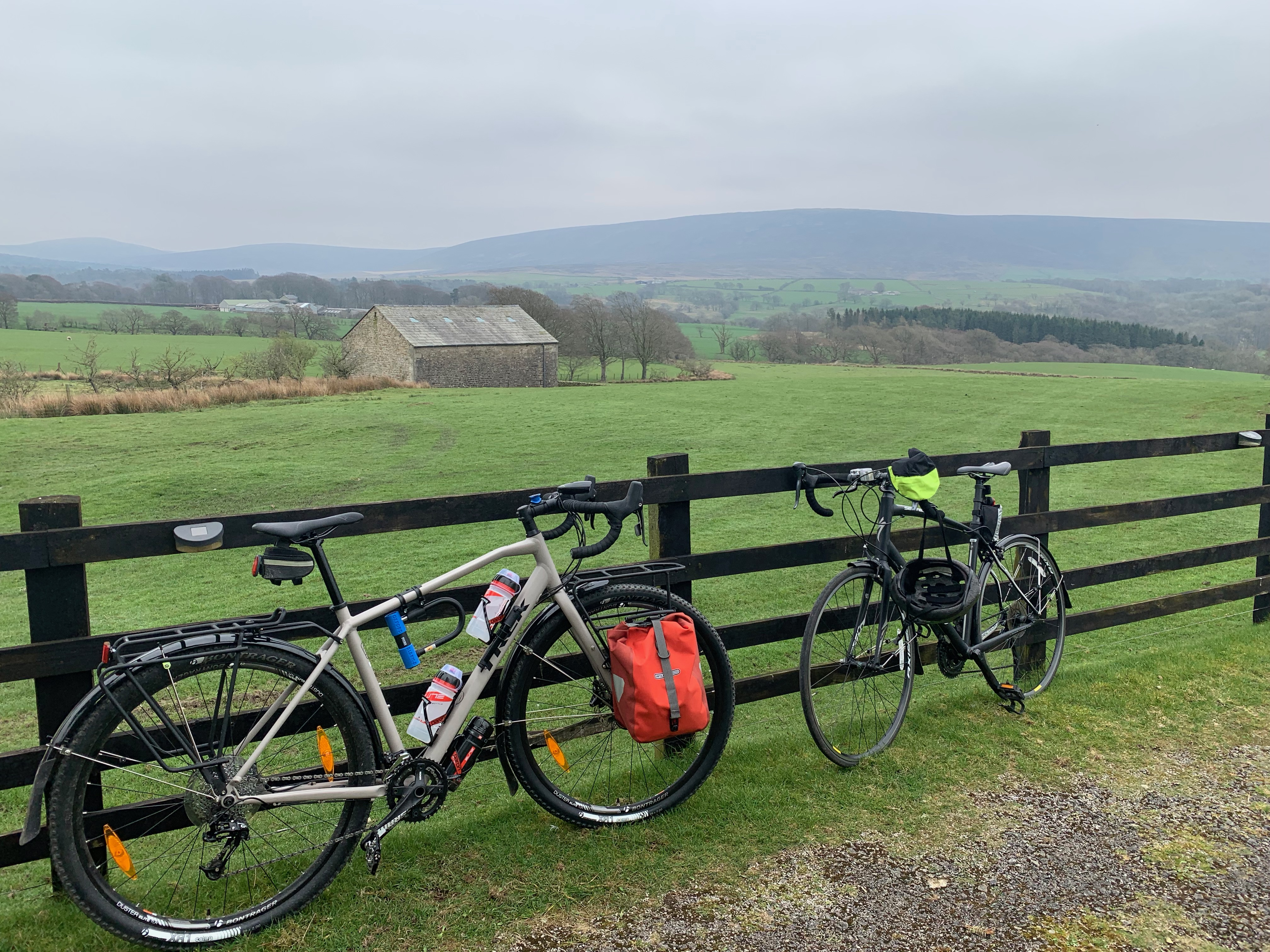 Bicycles in the Wyre Valley
